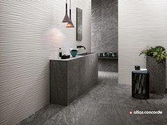 Rivestimento tridimensionale in ceramica a pasta bianca 3D WALL DESIGN FLOWS - 3D Wall Design
