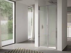 Box doccia a nicchia in vetro con porta a battente4.0   Nicchia - Porta doppio battente - DISENIA