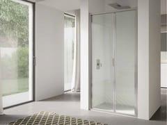 Box doccia a nicchia in vetro con porta a soffietto4.0   Nicchia - Porta a soffietto - DISENIA