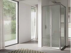 Box doccia angolare in vetro con porta a battente4.0   Angolare - Porta doppio battente - DISENIA