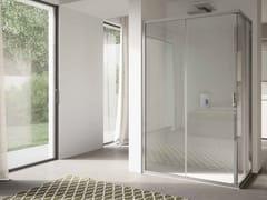 Box doccia angolare in vetro con porta scorrevole4.0   Angolare - Porta doppio scorrevole - DISENIA