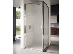 Box doccia angolare in vetro con porta a battente4.0   Angolare - Porta a battente - DISENIA