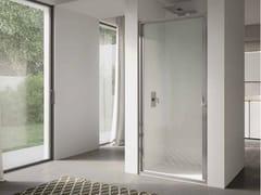Box doccia a nicchia in vetro con porta a battente4.0   Nicchia - Porta a battente - DISENIA