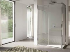 Box doccia angolare in vetro con porta scorrevole 4.0 - QT1S+QT1S - 4.0