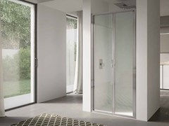 Box doccia a nicchia in vetro con porta a battente 4.0 - QT2P - 4.0
