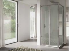 Box doccia angolare in vetro con porta a battente 4.0 - QT2P+QTFI - 4.0