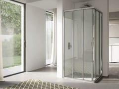Box doccia angolare in vetro con porta scorrevole 4.0 - QT2S+QT2S - 4.0