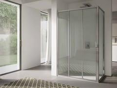 Box doccia angolare in vetro con porta scorrevole 4.0 - QTS2N+QTFI - 4.0