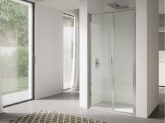 DISENIA, 4.0 - QTSF Box doccia a nicchia in vetro con porta a soffietto