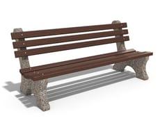 Panchina in calcestruzzo e legno con schienale4 | Panchina in calcestruzzo - ENCHO ENCHEV - ETE