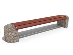 Panchina in calcestruzzo e legno senza schienale40 | Panchina in calcestruzzo - ENCHO ENCHEV - ETE