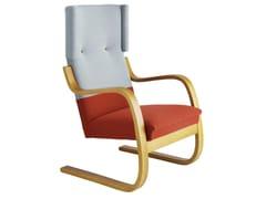 Poltrona a sbalzo in legno con schienale alto401 | Poltrona - ARTEK