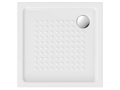 Piatto doccia antiscivolo quadrato in ceramicaH4,5 80X80 | Piatto doccia - GSI CERAMICA