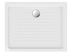Piatto doccia antiscivolo rettangolare in ceramicaH4,5 100X80 | Piatto doccia - GSI CERAMICA