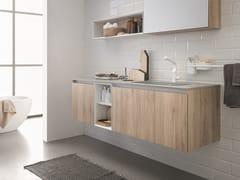 Mobile lavabo sospeso in legno 45 COMP.12 - 45