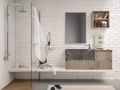 Mobile lavabo laccato sospeso con specchio 45 COMP.13 - 45