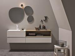 Mobile lavabo laccato in legno impiallacciato con specchio 45 COMP. 6 - 45