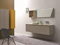 Mobile lavabo laccato in nobilitato con specchio 45 COMP.7 - 45