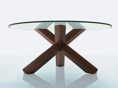 Tavolo con base in legno massello452 LA ROTONDA - CASSINA