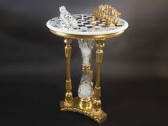 Tavolo da scacchi rotondo in bronzo45400   Tavolo da scacchi - TISSERANT