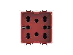 Presa a due moduli per serie civileSIDE 4B.G10R.H21 - 4 BOX