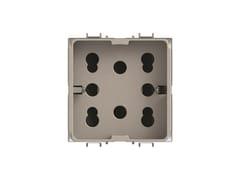 Presa a due moduli per serie civileSIDE 4B.G14.H21 - 4 BOX