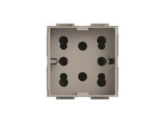Presa a due moduli per serie civileSIDE 4B.NT.H21 - 4 BOX
