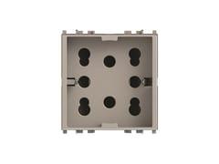 Presa a due moduli per serie civileSIDE 4B.V14SL.H21 - 4 BOX