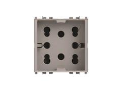Presa a due moduli per serie civileSIDE 4B.V20N.H21 - 4 BOX