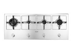 Piano cottura a gas semi filo top in acciaio inox4F LINEA KE S/FT INOX - FOSTER