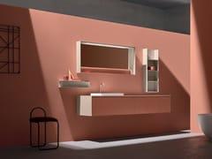 Mobile lavabo laccato sospeso con cassetti 5.ZERO | Mobile lavabo laccato - 5.Zero
