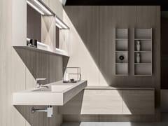 5.ZERO | Washbasin with integrated countertop