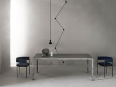 Tavolo rettangolare in cemento fibrorinforzato50 MM - FORMA&CEMENTO
