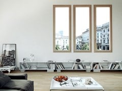 Finestra in alluminio e legno con triplo vetro500.55 WOOD DESIGN - AGOSTINIGROUP