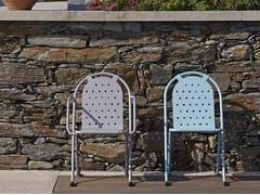 Sedia da giardino impilabile in metallo con braccioli5006 | Sedia - ADICO
