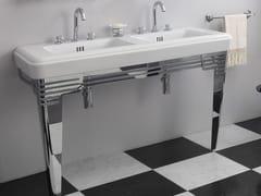 Lavabo a consolle doppio in ceramicaSO FIFTIES | Lavabo a consolle - BLEU PROVENCE