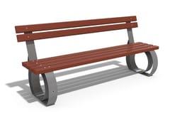 Panchina in legno e metallo con schienale52   Panchina in metallo - ENCHO ENCHEV - ETE