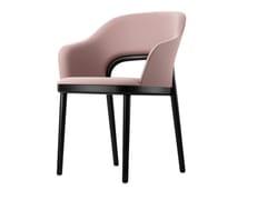Sedia imbottita in tessuto con braccioli520 | Sedia con braccioli - THONET