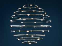 Lampada a sospensione a LED in ottone 56 PETITS BIJOUX - CATELLANI & SMITH