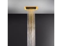 Soffione doccia a soffitto con cromoterapia57301+57002 - GESSI