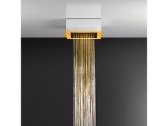 Soffione doccia a soffitto/controsoffitto con cromoterapia57303+57002 - GESSI
