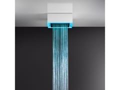 Soffione doccia a soffitto/controsoffitto con cromoterapia57307+57004 - GESSI