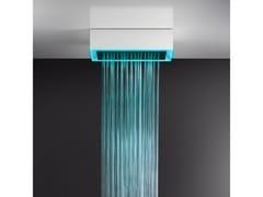 Soffione doccia a soffitto/controsoffitto con cromoterapia57403+57006 - GESSI