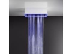 Soffione doccia a soffitto/controsoffitto con cromoterapia57411+57010 - GESSI