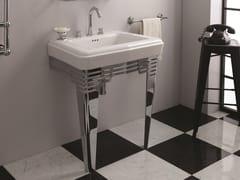 Lavabo a consolle singolo in ceramicaSO FIFTIES | Lavabo in ceramica - BLEU PROVENCE