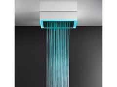 Soffione doccia a soffitto/controsoffitto con cromoterapia57511+57016 - GESSI