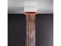 Soffione doccia a soffitto/controsoffitto con cromoterapia57603+57018 - GESSI