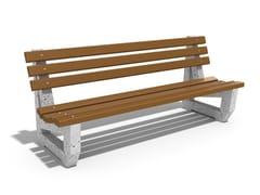 Panchina in calcestruzzo e legno con schienale6 | Panchina in calcestruzzo - ENCHO ENCHEV - ETE