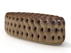 Panca ovale capitonné in velluto6087   Panca - BELLANI