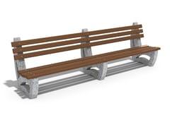 Panchina in calcestruzzo e legno con schienale63 | Panchina in calcestruzzo - ENCHO ENCHEV - ETE